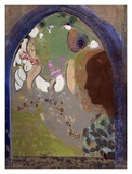 Woman's Silhouette in a Window, 1912 Poster by Odilon Redon