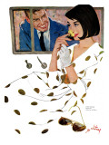 "The Golden Rose - Saturday Evening Post ""Leading Ladies"", October 24, 1959 pg.23 Giclee Print by Coby Whitmore"
