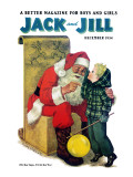 Secret for Santa - Jack and Jill, December 1954 Giclee Print by Nancy Wolterrate