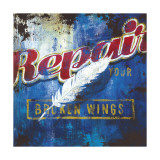 Repair Your Broken Wings Print by Rodney White