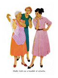 "Strangers in Town  - Saturday Evening Post ""Leading Ladies"", May 30, 1959 pg.18 Giclee Print by Mike Ludlow"