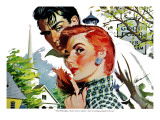 "The Man She Didn't Want - Saturday Evening Post ""Leading Ladies"", November 24, 1956 pg.30 Giclee Print by Perry Peterson"