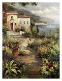 Villa's Garden Path Poster by Peter Bell
