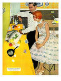 "Backstairs Bachelor  - Saturday Evening Post ""Leading Ladies"", July 17, 1954 pg.27 Giclee Print by Joe de Mers"