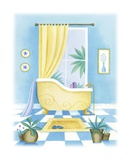 Blue Bathroom II Posters by Alexandra Burnett