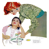 "I Love You, Mama Girl, A - Saturday Evening Post ""Leading Ladies"", March 31, 1956 pg.23 Giclée-Druck von Joe deMers"