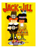 Roasting Marshmellows - Jack and Jill, November 1966 Giclee Print by Jack Weaver