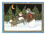 Travelin' Snow Family Posters by Leslie J. Beck