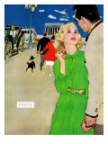 "Fugitive From Romance - Saturday Evening Post ""Leading Ladies"", April 6, 1957 pg.35 Giclee Print by Joe deMers"