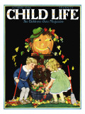 Fall Harvest - Child Life, October 1928 Giclee Print by Hazel Frazee