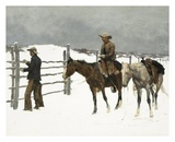 The Fall of The Cowboy Art by Frederic Sackrider Remington