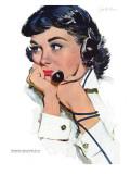 "Star Salesman  - Saturday Evening Post ""Leading Ladies"", February 17, 1951 pg.24 Giclee Print by Joe de Mers"