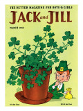 Luck of the Irish - Jack and Jill, March 1955 Giclee Print by Milt Groth