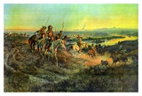 Salute of the Robe Trade Prints by Charles Marion Russell