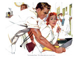 "Even Doctors Are Human  - Saturday Evening Post ""Leading Ladies"", April 3, 1954 pg.26 Giclee Print by Robert Meyers"