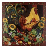 Wine and Rooster Poster by Suzanne Etienne