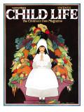 Giving Thanks - Child Life, November 1925 Giclee Print by Hazel Frazee