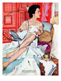 "The Strange Woman  - Saturday Evening Post ""Leading Ladies"", October 17, 1953 pg.24 Gicléetryck av Bernard D'Andrea"