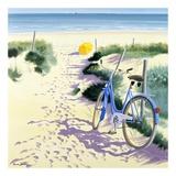 La Parasol Jaune Print by Henri Deuil