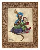 Monkey with Concertina Plakaty autor Janet Kruskamp