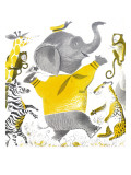 Ethan the Elephant - Child Life, June 1955 Giclee Print