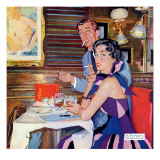 "Her Business Was Men  - Saturday Evening Post ""Leading Ladies"", December 12, 1953 pg.37 Giclee Print by Bernard D'Andrea"