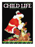 Santa's Bag - Child Life, December 1929 Giclee Print by Tom Meade