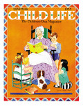 Storytime - Child Life, November 1935 Giclee Print by Janet Laura Scott