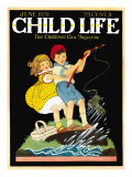 What a Catch - Child Life, June 1931 Giclee Print by Hazel Frazee