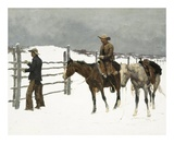 The Fall of The Cowboy Pósters por Frederic Sackrider Remington