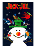 Snowman and Friends - Jack and Jill, January 1980 Giclee Print by Allan Eitzen