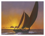 Sails in the Sunset Prints by Diane Romanello