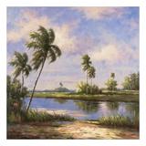 Mystic Lagoon I Prints by Hannah Paulsen