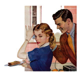 """His Brother's Girl - Saturday Evening Post """"Leading Ladies"""", September 15, 1951 pg.41 Giclee Print by Ben Prins"""