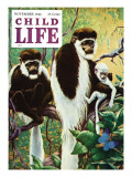 Monkies - Child Life, November 1946 Giclee Print by Jack Murray