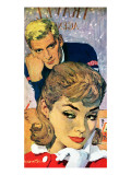 """The Deep Frozen Bachelor - Saturday Evening Post """"Leading Ladies"""", August 13, 1960 pg.24 Giclee Print by Mike Ludlow"""