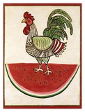 Summer Rooster Prints by Suzanne Etienne