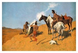 The Smoke Signal Prints by Frederic Remington