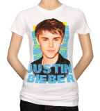 Juniors: Justin Bieber - Criss Cross T-Shirt