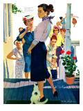 "Strangers in Town, 2 - Saturday Evening Post ""Leading Ladies"", May 30, 1959 pg.19 Giclee Print by Mike Ludlow"