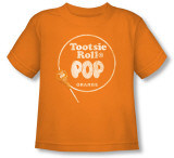 Toddler: Tootsie Roll - Pop Logo Orange T-Shirt
