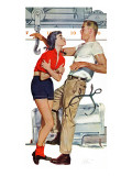 Judy and the Iceman  - Saturday Evening Post &quot;Leading Ladies&quot;, October 23, 1954 pg.31 Giclee Print by Bob Hillbert