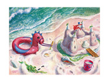 Sand Castle - Jack and Jill, August 1953 Giclee Print by Georgeann Helms