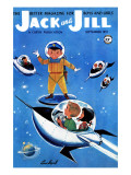 A Day in Outerspace - Jack and Jill, September 1957 Reproduction proc&#233;d&#233; gicl&#233;e par Lou Segal