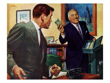 Dangerous Gift - Saturday Evening Post &quot;Men at the Top&quot;, August 8, 1959 pg.24 Giclee Print by Larry Kritcher