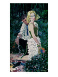 "Furtive Affair - Saturday Evening Post ""Leading Ladies"", May 7, 1960 pg.30 Giclee Print by Robert Mcginnis"