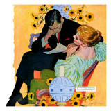 "Love Dies Slowly - Saturday Evening Post ""Men at the Top"", March 2, 1957 pg.27 Giclee Print by Joe deMers"