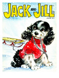 Let&#39;s Go Sledding - Jack and Jill, January 1971 Giclee Print by Irma Wilde