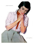 "The Disillusioned Bride - Saturday Evening Post ""Leading Ladies"", November 22, 1952 pg.27 Giclee Print by Joe deMers"