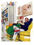"My Sister's Mistake - Saturday Evening Post ""Men at the Top"", February 16, 1957 pg.34 Giclee Print by Ernest Chiriaka"